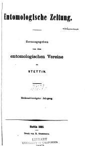 Stettiner entomologische Zeitung: Bände 46-49