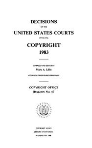 Decisions of the United States Courts Involving Copyright, 1983