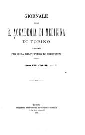 Giornale della Accademia di medicina di Torino