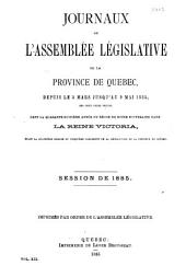 Journaux de l'Assemblee Legislative: Volume 19