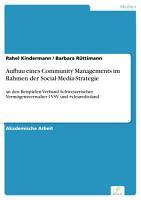 Aufbau eines Community Managements im Rahmen der Social Media Strategie PDF