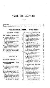 Grammaire de la langue française
