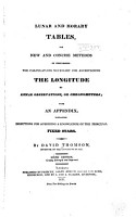 Lunar and Horary Tables  for New and Concise Methods of Performing the Calculations Necessary for Ascertaining the Longitude by Lunar Observations  Or Chronometers PDF
