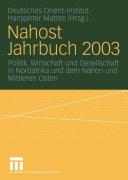 Nahost Jahrbuch 2003