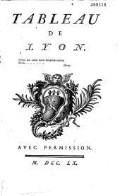 Tableau de la ville de Lyon [par l'abbé Jacques Pernetti]