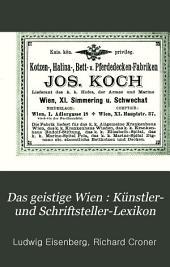 Das geistige Wien: Bd. Medicinisch-naturwissenschaftlicher Teil