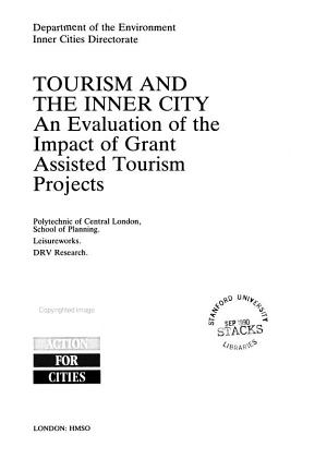 Tourism and the Inner City PDF