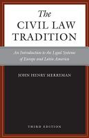 The Civil Law Tradition  3rd Edition PDF