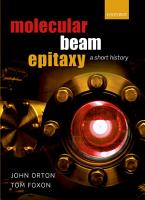 Molecular Beam Epitaxy PDF