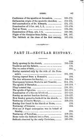 History of the Sabbath and First Day of the Week: Showing the Bible Record of the Sabbath, Also the Manner in which it Has Been Supplanted by the Heathen Festival of the Sun
