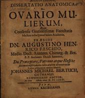 Diss. anat. de ovario mulierum
