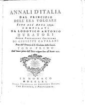 Annali d'Italia: Dall'anno primo dell'era volgare fino all'anno 222