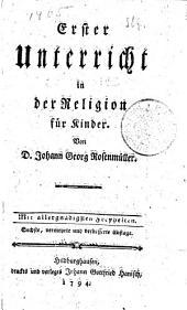 Erster Unterricht in der Religion für Kinder