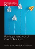 Routledge Handbook of Counter Narratives PDF