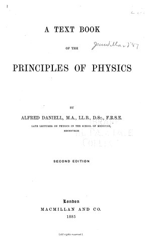 A Text Book of the Principles of Physics