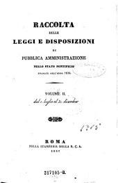 Raccolta delle leggi e disposizioni di pubblica amministrazione nello stato pontificio: Volume 14