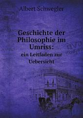 Geschichte der Philosophie im Umriss: