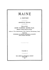 Maine: a history, Volume 2