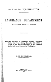 Biennial Report of the Insurance Commissioner