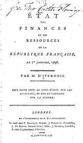 État des finances et des ressources de la République française, au 1er janvier, 1796