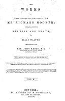 The Works of ... Mr. Richard Hooker