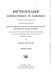 Hieroglyphisch-demotisches Wörterbuch ...