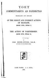 Voet, Commentarius Ad Pandectas: Volume 17