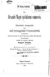 De Alexandri Magni epistularum commercio