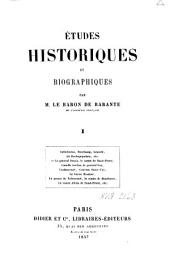 Études historiques et biographiques: Volume1
