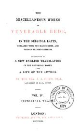 The Complete Works of Venerable Bede: In the Original Latin, Volume 4