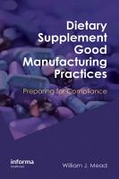 Dietary Supplement Good Manufacturing Practices PDF