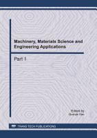Machinery  Materials Science and Engineering Applications  MMSE2011 PDF