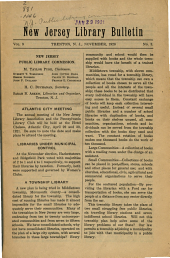 New Jersey Library Bulletin: Volume 9, Issue 3