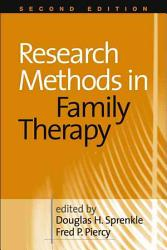 Research Methods In Family Therapy Book PDF