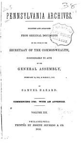 Pennsylvania Archives: Volume 12