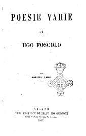 Poesie varie di Ugo Foscolo