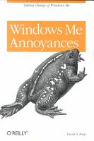 Windows Me Annoyances PDF