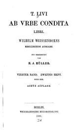 T. Livi Ab urbe condita libri: Band 4,Teil 2