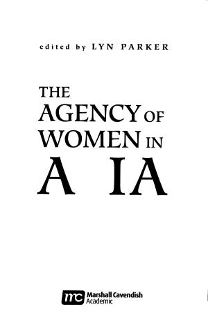The Agency of Women in Asia PDF