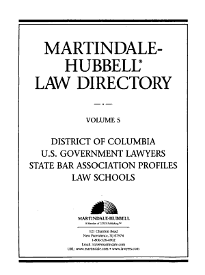The Martindale Hubbell Law Directory PDF