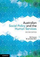 Australian Social Policy and the Human Services PDF