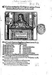 Cui sunt ora aquilae: cui stigmata quinque: poetae Bilbilis assertor: porticus: auctor adest