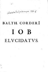 Balthasaris CorderI Antuerpiani, Soc. Iesu D.T. Iob elucidatus, Philippo IV. regi catholico DD.