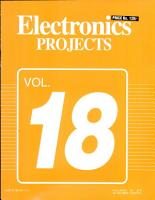 Electronics Projects Vol  18 PDF