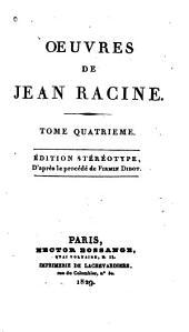 Oeuvres de Jean Racine ...