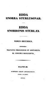Edda Snorra Sturlusonar: Edda Snorronis Sturlæi, Volume 2