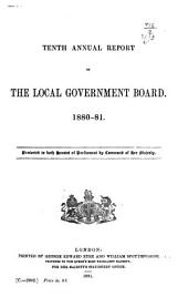 Annual Report of the Local Government Board: Volume 10