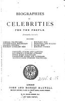 Biographies of celebrities for the people  ed  by F  Banfield PDF