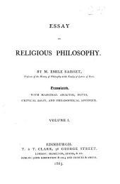 Essay on Religious Philosophy: Volume 1