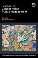 Handbook of Collaborative Public Management PDF
